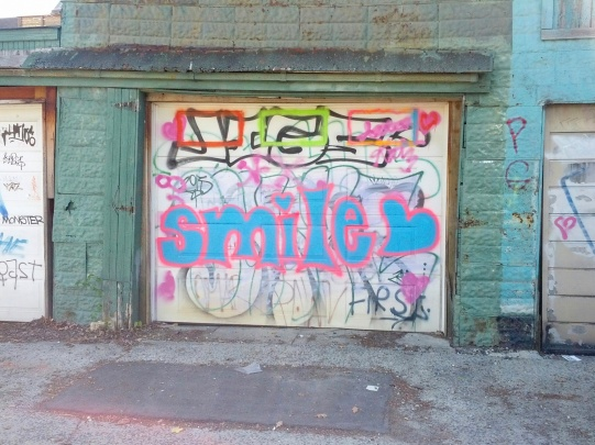 On route to a studio, I saw this in an alley. Smile I did indeed, and carried on...
