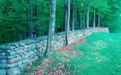 """Andy Goldsworthy's """"Five Men, Seventeen Days, Fifteen Boulders, One Wall,"""" 2010 is pretty magical"""