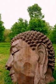 """Detail: Zhang Huan's """"Long Island Buddha,"""" 2010-11"""