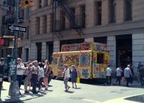 Travelling art bus.