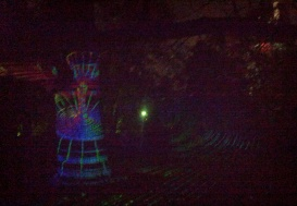 Spadina House had an array of light projections on trees. This was a water drop
