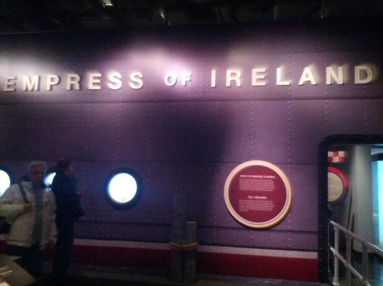 Empress of Ireland exhibit