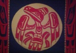 Beautiful button blanket from: First Peoples of the Northwest Coast
