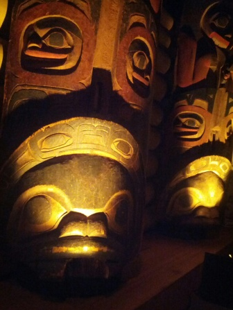 Close up of statues in From Time Immemorial – Tsimshian Prehistory.