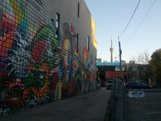 Mural beside Kinton Ramen on Baldwin