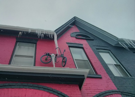 bicycle icicle