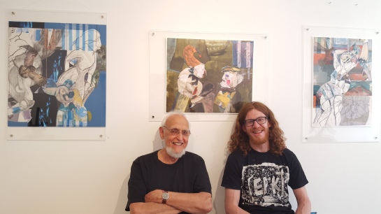 Marcus Berns, with his art-loving grandson, Mike McGown
